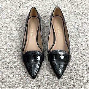 Kurt Geiger London Patent Pointed Toe Block Heels